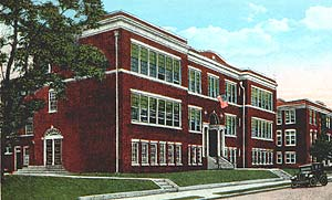 "Pt. Pleasant Beach High School and ""annex"" circa 1927"