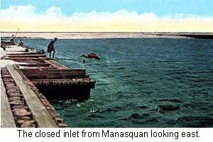 The closed Manasquan Inlet